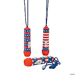 Patriotic Flashlights on a Rope