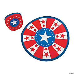 Patriotic Flying Discs in Pouch