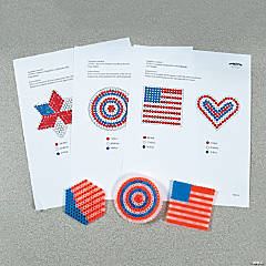 Patriotic Fuse Bead Free Template Idea