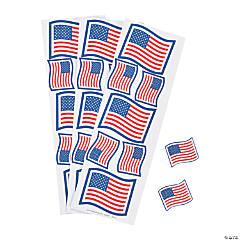 Patriotic Glitter Flag Stickers