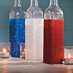 Patriotic Glitter Jars Idea