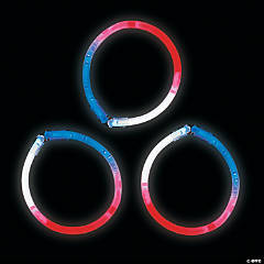 Patriotic Glow Tri-Color Bracelets