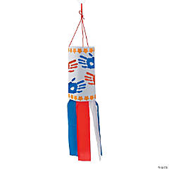 Patriotic Handprint Windsock Craft Kit