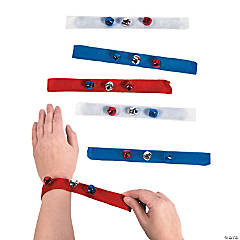 Patriotic Jingle Bell Slap Bracelets