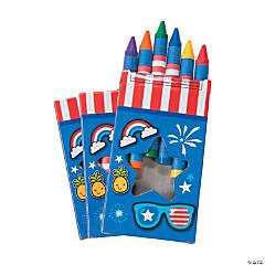 Patriotic Jumbo Crayons