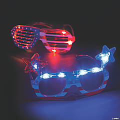Patriotic Light-Up Glasses