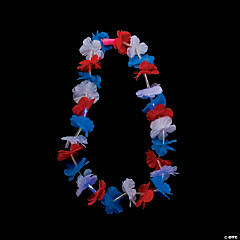 Patriotic Light-Up Leis