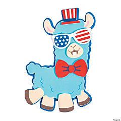 Patriotic Llama Magnet Craft Kit
