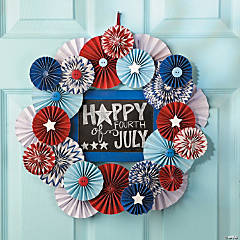 Patriotic Medallion Wreath Idea