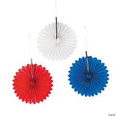 Patriotic Mini Hanging Fans