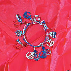 Patriotic Nautical Bracelet Idea