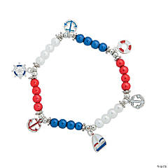 Patriotic Nautical Charm Bracelet Craft Kits