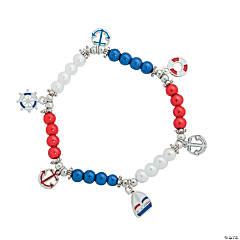 Patriotic Nautical Charm Bracelet Craft Kits