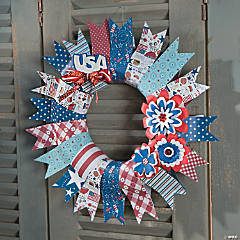Patriotic Paper Wreath Idea