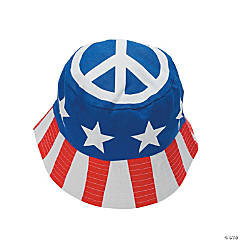 Patriotic Peace Sign Bucket Hats