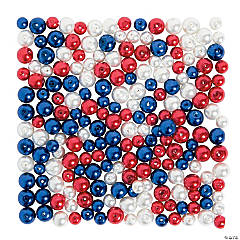 Patriotic Pearl Bead Assortment