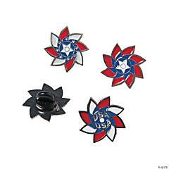 Patriotic Pinwheel Pins