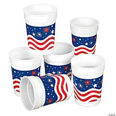 Patriotic Plastic Tumblers