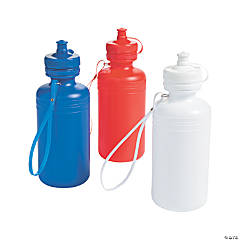 Patriotic Plastic Water Bottles