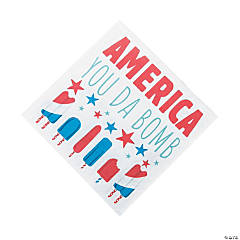 Patriotic Pop Luncheon Napkins