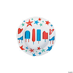Patriotic Pop Paper Dessert Plates