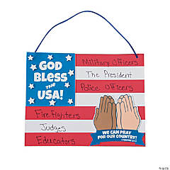 Patriotic Prayer Sign Craft Kit