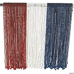 Patriotic Red, White & Blue Bead Necklace Assortment