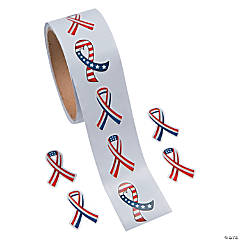 Patriotic Ribbon Stickers