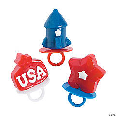 Patriotic Ring Lollipops