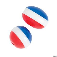 Patriotic Round & Oval Beads
