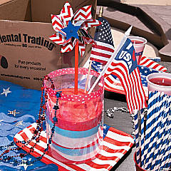 Patriotic Sand Art Centerpiece Idea