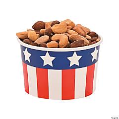 Patriotic Snack Paper Bowls