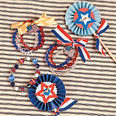 Patriotic Stacking Bracelets Idea