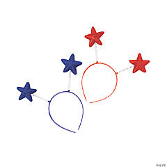 Patriotic Star Head Boppers - 12 Pc.