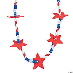 Patriotic Star Straw Necklace Craft Kit