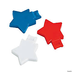 Patriotic Star Whistles