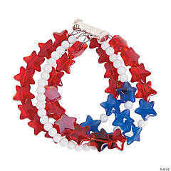 Patriotic Stars Bracelet Idea