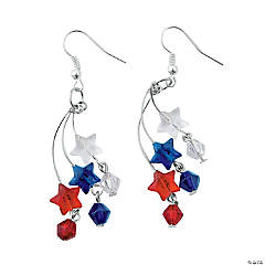 Patriotic Stars Earrings Craft Kit