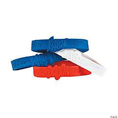 Patriotic Superhero Rubber Bracelets