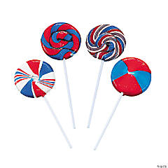 Patriotic Swirl Lollipops