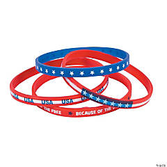 Patriotic Thin Band Silicone Bracelets