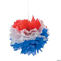 Patriotic Tissue Pom-Poms with Grommet
