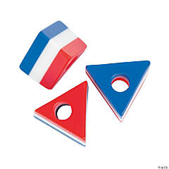 Patriotic Triangle Beads