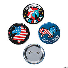 Patriotic Unicorn Buttons