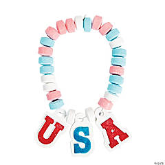 Patriotic USA Candy Bracelets