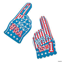 Patriotic USA Foam Hands