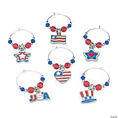 Patriotic Wine Charms Craft Kit