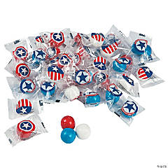 Patriotic Wrapped Gumballs
