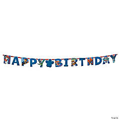 Paw Patrol Add-an-Age Jumbo Letter Happy Birthday Paper Banner