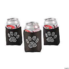 Paw Print Bling Black Can Covers